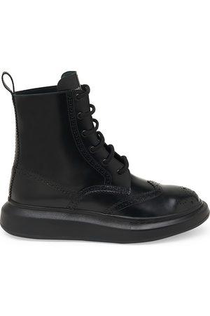 Alexander McQueen Men's Brogue Wingtip Leather Platform Combat Boots - - Size 46 (13)