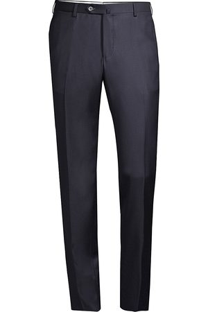 ISAIA Men's Solid Wool Trousers - - Size 46 (30)
