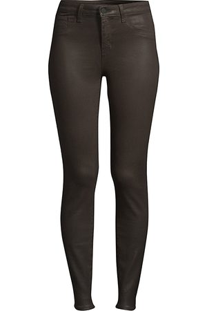 L'Agence Women's Margot High-Rise Coated Skinny Ankle Jeans - - Size 31 (10)