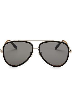 Alexander McQueen Men's 61MM Aviator Sunglasses