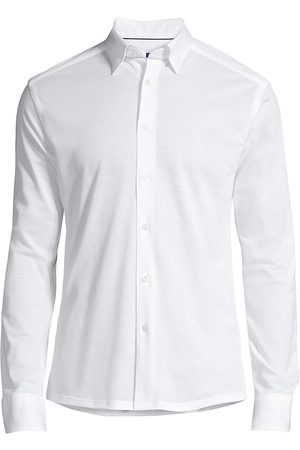 Eton Men's Soft Casual Slim-Fit Pique Cotton Sport Shirt - - Size XL