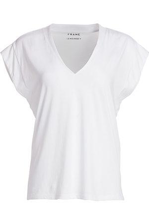 Frame Women's Le Mid Rise V-Neck Tee - - Size Medium