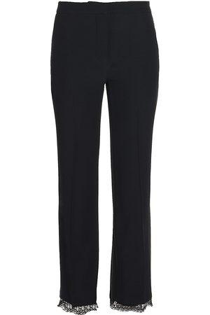 Alexander McQueen Women's Lace Hem Trousers - - Size 48 (16)