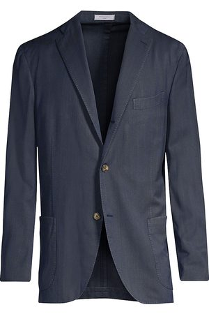 Boglioli Men's Herringbone Wool Jacket - - Size 60 (50)