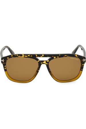 Tom Ford Men's 56MM Plastic Round Sunglasses