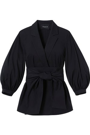 Lafayette 148 New York Women's Classic Stretch Cotton Wexler Jacket - - Size Small
