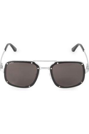 Cartier Men's 58MM Square Titanium Sunglasses