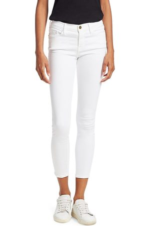 Frame Women's Le Color Mid-Rise Crop Skinny Jeans - - Size 32 (10-12)