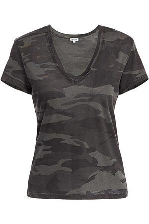 Splendid Women's Kate V-Neck Camo T-Shirt - - Size XS