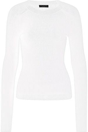 RAG&BONE Women Hoodies - Women's Cadee Crew Sweater - Chalk - Size Large