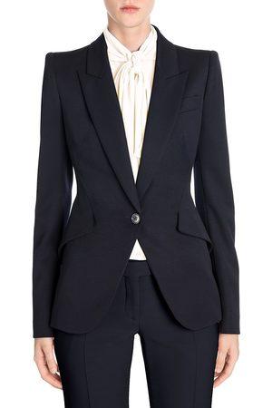 Alexander McQueen Women's Peak Shoulder Blazer - - Size 48 (12)