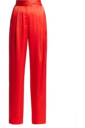 Michelle Mason Women's Silk Wide-Leg Trousers - - Size 10