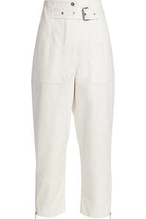 3.1 Phillip Lim Women's Belted Ankle Cropped Cargo Pants - - Size 12