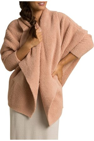 Barefoot Dreams Women's Cozychic Chevron Ribbed Cardigan - - Size Large-XL
