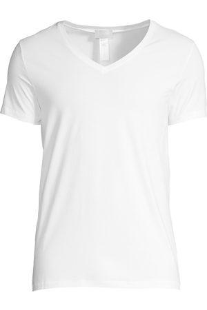 Hanro Men's Cotton Superior Short Sleeve V-Neck Tee - - Size XXL