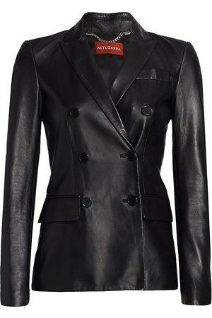 Altuzarra Women's Indiana Double Breasted Leather Jacket - - Size 42 (10)