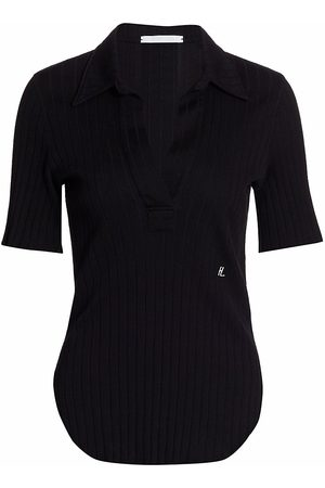 Helmut Lang Women's Skinny Polo T-Shirt - - Size Small