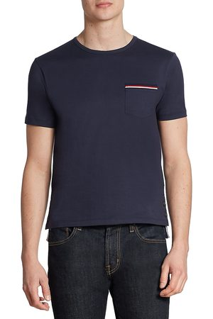 Thom Browne Men's Cotton Pocket Tee - - Size 5 (XXL)