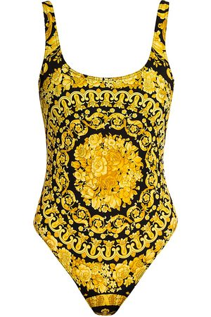 VERSACE Women's Barocco Low-Back One-Piece Swimsuit - - Size 2 (Small)