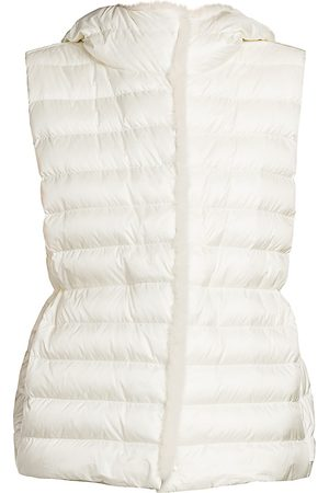 Moncler Women's Beurre Mink Fur-Trim Gilet - - Size 2 (Medium)