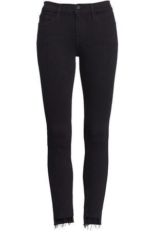 Frame Women's Le Skinny de Jeanne Mid-Rise Raw-Edge Step Hem Jeans - - Size 31 (10)