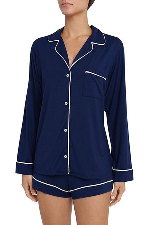 Eberjey Women's Gisele 2-Piece Piped Pajama Set - - Size Large