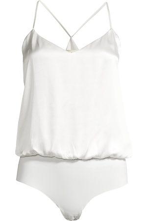 L'Agence Women's Mariela Silk Blouson Bodysuit - - Size Large