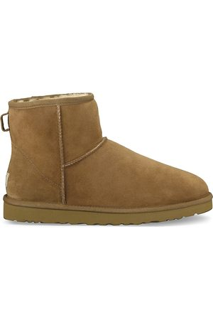 UGG Men's Classic Heritage Suede & Shearling Classic Mini Bomber Boots - - Size 13
