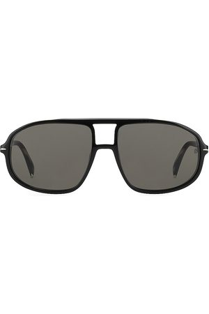 David beckham Men's 56MM Aviator Sunglasses