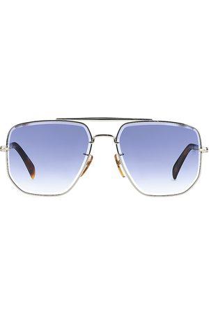 David beckham Men Square - Men's 60MM Square Metal Sunglasses