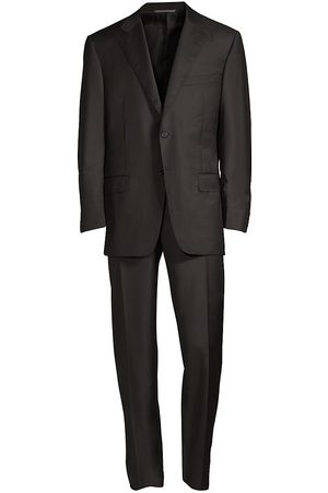 CANALI Men's Regular-Fit Two-Button Wool-Blend Suit - - Size 62 (52) L