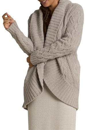 Barefoot Dreams Women's Cozychic Cable Cardigan - - Size Medium