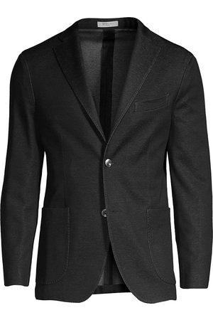 Boglioli Men's Denim Effect Knit Jersey Jacket - - Size 58 (48) R