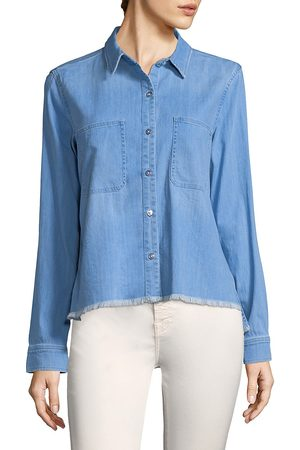 7 for all Mankind Women's Denim Button-Front Shirt - - Size Large