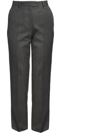 DRIES VAN NOTEN Women's Straight-Leg Wool Pinstripe Flat Pants - - Size 40 (8-10)