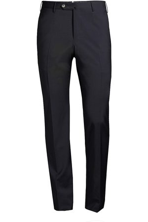PT01 Men's Traveller Slim-Fit Performance Wool Trousers - - Size 56 (46)