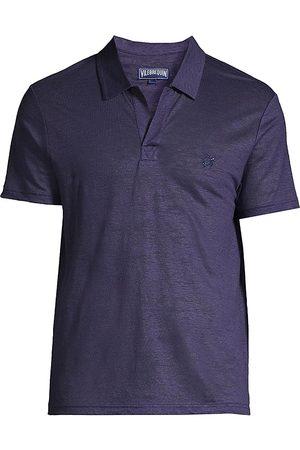 Vilebrequin Men's Pyramid Linen Polo Shirt - - Size XXL