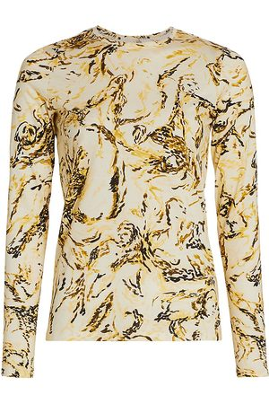 Proenza Schouler Women's Printed Tissue Jersey Long-Sleeve Top - - Size Medium