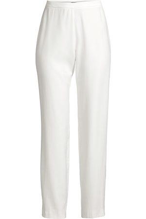 Natori Women's Sanded Twill Side-Zip Pants - - Size 6