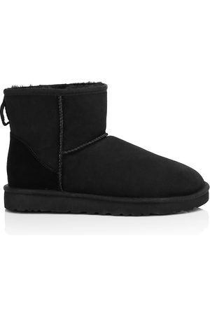 UGG Men's Classic Heritage Suede & Shearling Classic Mini Bomber Boots - - Size 12