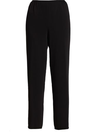 Caroline Rose Women's Suzette Crepe Straight Pants - - Size Large