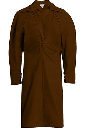 Bottega Veneta Women's Gathered Shirtdress - - Size 48 (12)