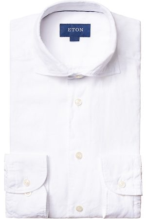 Eton Men's Contemporary-Fit Linen Soft Casual Button-Down Shirt - - Size 17