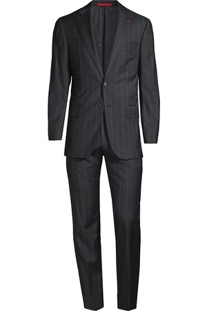 ISAIA Men's Pinstripe Wool Suit - - Size 56 (46) R