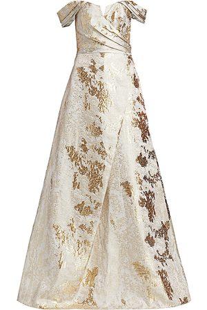 Rene Ruiz Collection Women's Brocade Off-The-Shoulder Gown - - Size 14