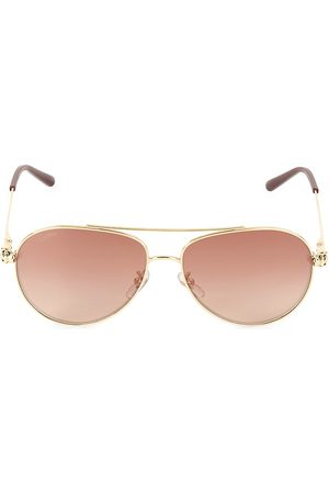 Cartier Men's 61MM Goldtone Aviator Sunglasses