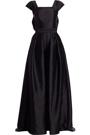 Alexia Maria Women's Georgine Silk Wool Jumpsuit with Convertible Skirt - - Size 4