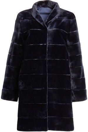 The Fur Salon Women's Zandra Rhodes For Reversible Striped Sheared Mink Coat - - Size Small