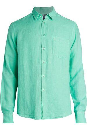 Vilebrequin Men's Long-Sleeve Linen Shirt - - Size Medium