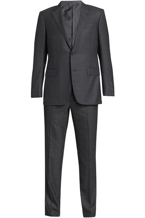 Ermenegildo Zegna Men's 2-Piece Plaid Wool Suit - - Size 56 (46) L